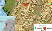 Red sísmica de Colombia.