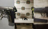 Las armas fueron dejadas a disposición de la autoridad competente.
