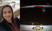 Rosita Jiménez fue víctima de un atentado donde salió ilesa.