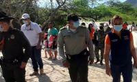 Policía, Ejército y Secretaría de Seguridad, se dieron cita en Bahía Concha.