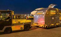 Este sábado, llegaron 958.000 vacunas en un vuelo de la empresa aérea KLM, con ruta Pekín-Ámsterdam-Bogotá.