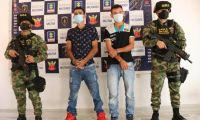 Presuntos extorsionistas capturados en Norte de Santander.