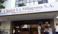 Ingreso a la clínica La Milagrosa de Santa Marta.