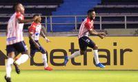 Miguel Ángel Borja celebrando su gol.
