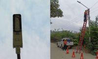Sector donde fueron vandalizadas las luminarias.