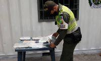 Marihuana incautada en Santa Marta.
