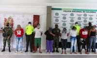 Personas capturadas en Valledupar.