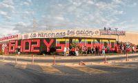 Mural pintado por hinchadas del Fútbol