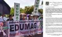 Edumag ratifica apoyo al paro nacional.