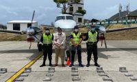 Captura de tripulantes de avioneta que transportaba casi una tonelada de cocaína a la isla de Providencia.