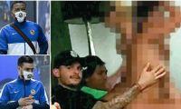 Roger Martínez y Nicolás Benedetti, futbolistas involucrados en el escándalo.