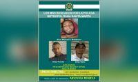 Cartel con los presuntos responsables del atentado a bala.