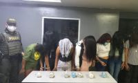 Mujeres capturadas en Barranquilla.
