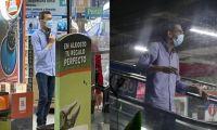 Leonardo Acuña, expolicía que creó pánico en el almacén de cadena.