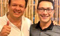 Hollman Morris con el gobernador Carlos Caicedo, líder de Fuerza Ciudadana.