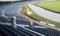 Proceso de sinterización del estadio Metropolitano.