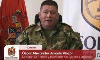 Coronel Óscar Alexander Amado.