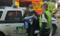La Policía dejó al menor a disposición del ICBF.