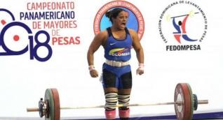 Mercedes Pérez, pesista.