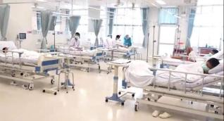 Niños rescatados, en el Hospital.