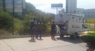 El levantamiento del cadáver se realizó esta mañana en la entrada al Rodadero, sobre la carrera 4.