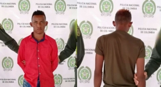 Jóvenes capturados en Chibolo.