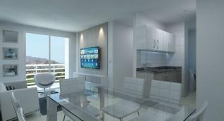 Diseño del interior de los apartamentos en la segunda etapa de Venecia Central.