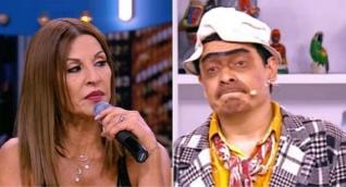 Amparo Grisales y el humorista Suso's