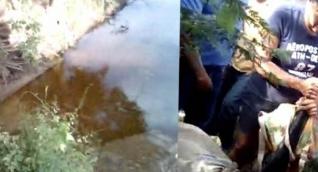 Hallan muertos a dos niños en un arroyo.