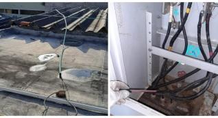 Imágenes de la inspección en la que identificaron las presuntas conexiones ilegales.