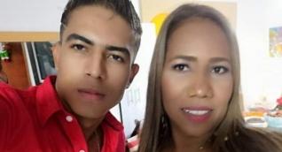 Erika Causil Hernández y su hijo.