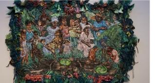 Exposición en el Museo Bolivariano.
