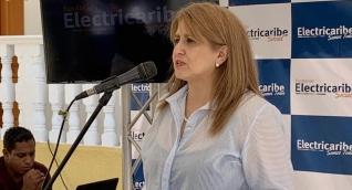 Ángela Patricia Rojas, agente interventora de la saliente Electricaribe.