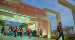 Entrada de la Universidad del Magdalena, sede principal.