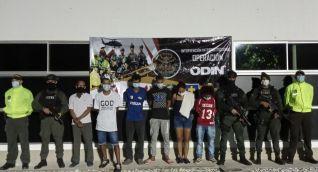 Capturados por la Policía Metropolitana de Santa Marta.