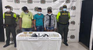 El operativo policial se efectuó en el kilómetro 4 de la vía que comunica al municipio de El Banco con Tamalameque.