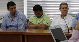 Los hermanos Rojas Mendoza, durante una audiencia de Justicia y Paz.