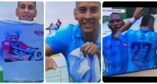 El Unión Magdalena celebró el primer gol en honor a Balín.