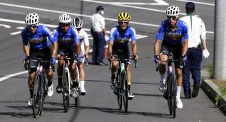 Ciclistas colombianos.