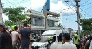 Imágenes de la zona donde ocurrió el tiroteo el jueves al mediodía.