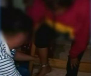 Niña encadenada por su madre en Puerto Rico, Caquetá