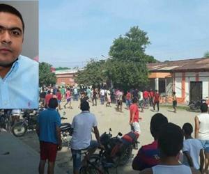 Holmes Echeverría, alcalde de Zona Bananera y lugar donde la comunidad atacó a los ladrones.