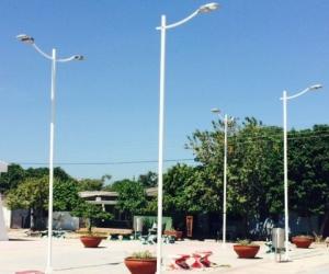 Luminarias del alumbrado público de Santa Marta