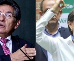 El Fiscal Néstor Humberto Martínez y la senadora Claudia López.