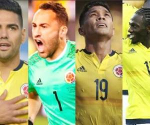 Falcao, Ospina, Teo y Chará.