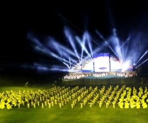 Imagen de la inauguración de los Juegos Bolivarianos en Santa Marta