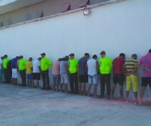 Los capturados fueron puesto a disposición de las autoridades competentes.