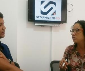 María Cristina Agudelo visitó la oficina de Seguimiento.co para hablar del evento.