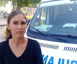 Geraldine Rincón Lesmes, madre de la niña de 2 años que se tragó una moneda.