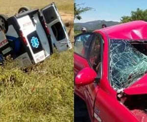 En el choque murió el hombre del vehículo particular.